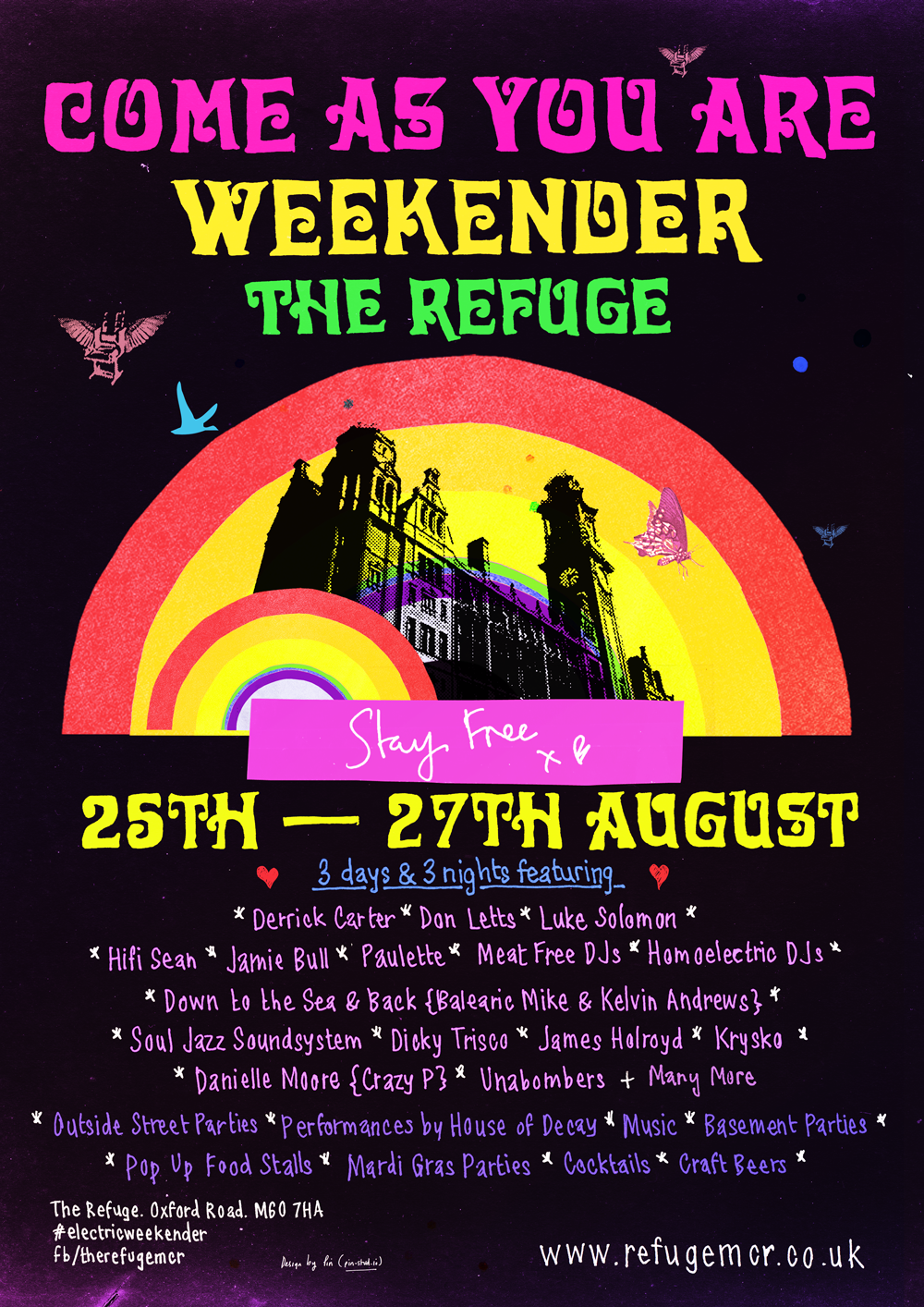 #YOURPARTYPLANNER : COME AS YOU ARE WEEKENDER – THE REFUGE 25 – 27 AUGUST