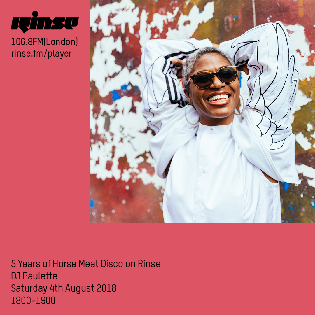 #ONAIR PAULETTE DOES HORSEMEAT DISCO ON RINSE FM 04/08/2018