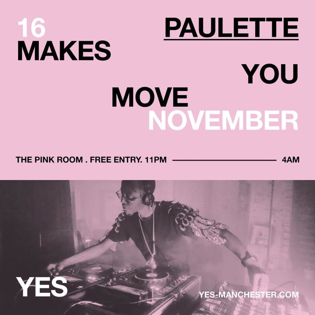 PAULETTE MAKES YOU MOVE NOV FLYER